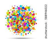 vector colorful bright rainbow... | Shutterstock .eps vector #588946022