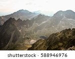 landscape with mountains in... | Shutterstock . vector #588946976