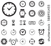 clock icon isolated. time logo  ...   Shutterstock .eps vector #588951455