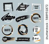 vector quote boxes collection....   Shutterstock .eps vector #588951872