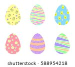 easter eggs | Shutterstock .eps vector #588954218