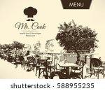 restaurant menu design. vector... | Shutterstock .eps vector #588955235