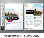 portfolio design template... | Shutterstock .eps vector #588973082