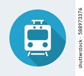 train flat vector icon | Shutterstock .eps vector #588973376