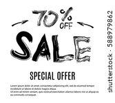 sale banner. special offer ... | Shutterstock .eps vector #588979862