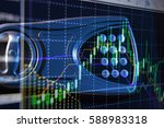 financial data on a monitor as... | Shutterstock . vector #588983318