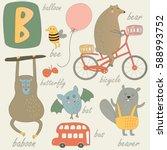 vector alphabet. letter 'b'.... | Shutterstock .eps vector #588993752