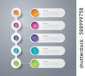 timeline infographics design... | Shutterstock .eps vector #588999758