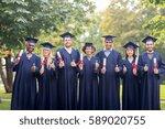 education  graduation  gesture... | Shutterstock . vector #589020755