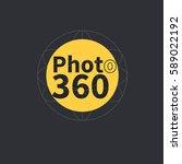 photo 360 degrees vector icon.... | Shutterstock .eps vector #589022192