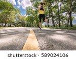 young fitness sport woman... | Shutterstock . vector #589024106