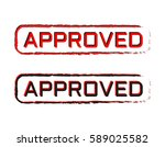 approved stamp with grunge... | Shutterstock .eps vector #589025582