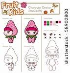 fruit kids cartoon 2 | Shutterstock .eps vector #58902800