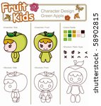 fruit kids cartoon 14 | Shutterstock .eps vector #58902815