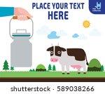 hand holding aluminium milk can....   Shutterstock .eps vector #589038266
