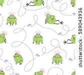 seamless pattern with cute... | Shutterstock .eps vector #589043936