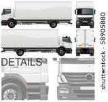 vector delivery   cargo truck | Shutterstock .eps vector #58905880