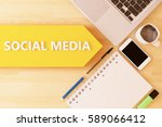 social media   linear text... | Shutterstock . vector #589066412
