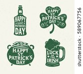 saint patricks day. retro style.... | Shutterstock .eps vector #589067756