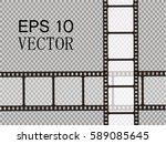 set of vector film strip... | Shutterstock .eps vector #589085645