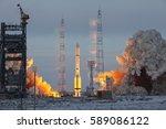 baikonur  kazakhstan   11...   Shutterstock . vector #589086122