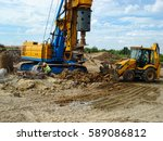 view of drilling machine... | Shutterstock . vector #589086812