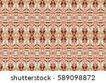 seamless colorful artistic... | Shutterstock . vector #589098872