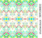 melting colorful square pattern ... | Shutterstock . vector #589108832