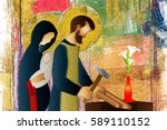 Holy Family Of Jesus  Mary And...