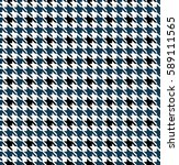Blue Seamless Houndstooth...