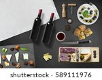 cheese appetizer selection or... | Shutterstock . vector #589111976