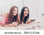 a horizontal photo of two young ... | Shutterstock . vector #589115246