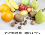 fruit apples bananas pears... | Shutterstock . vector #589117442