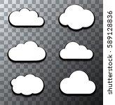 vector modern halftone cloud... | Shutterstock .eps vector #589128836
