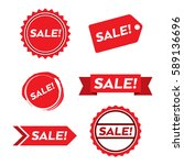 a collection of simple sales... | Shutterstock .eps vector #589136696
