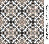 mosaic seamless pattern.... | Shutterstock .eps vector #589143992