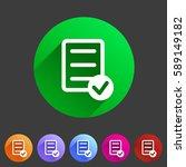 clipboard checklist icon. flat...