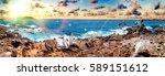 tenerife island scenery.ocean... | Shutterstock . vector #589151612