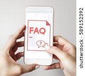 faq frequently asked questions... | Shutterstock . vector #589152392