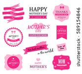 set of happy mother day vector... | Shutterstock .eps vector #589154846
