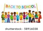 group of elementary school...   Shutterstock .eps vector #58916038