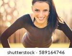 portrait of beautiful happy...   Shutterstock . vector #589164746