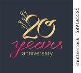 20 years anniversary vector... | Shutterstock .eps vector #589165535