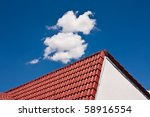 image of red roof | Shutterstock . vector #58916554