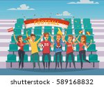 colored fan rooter buff... | Shutterstock .eps vector #589168832