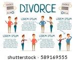 divorce rate marriage... | Shutterstock .eps vector #589169555