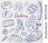set of bakery. organic food.... | Shutterstock .eps vector #589170746