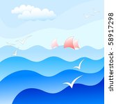 blue sea background | Shutterstock .eps vector #58917298