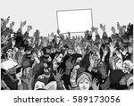 illustration of protesting... | Shutterstock .eps vector #589173056