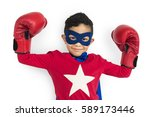 boy superhero brave child gutsy ... | Shutterstock . vector #589173446